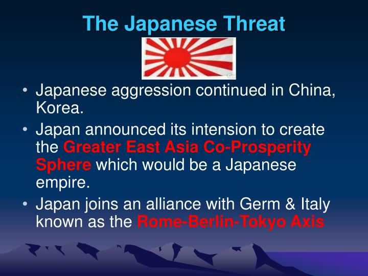 The Japanese Threat