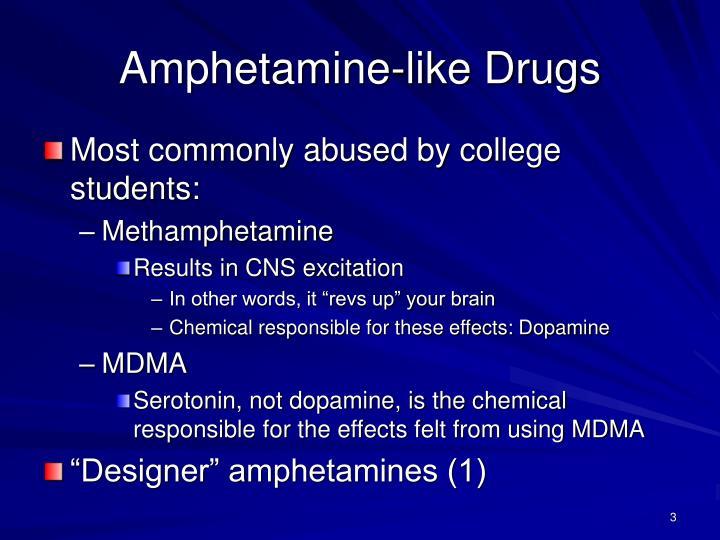 Amphetamine like drugs
