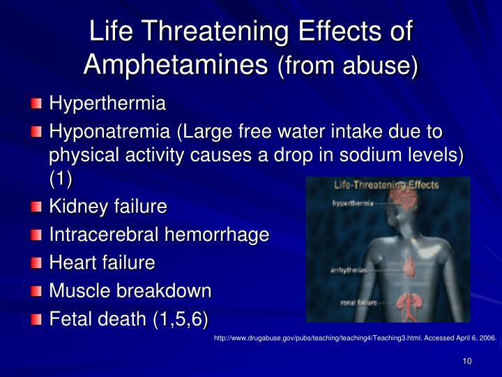 Life Threatening Effects of Amphetamines