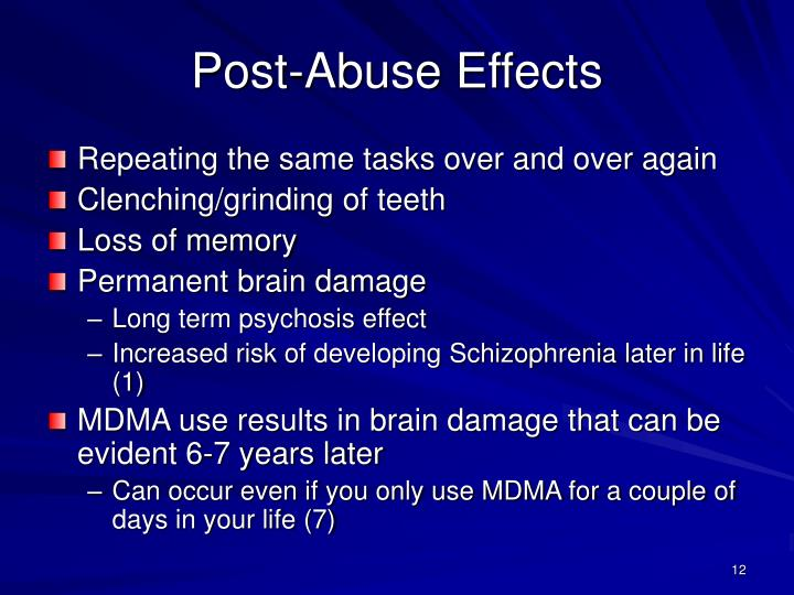 Post-Abuse Effects