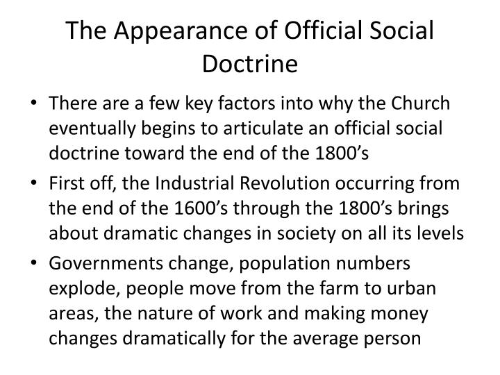The Appearance of Official Social Doctrine