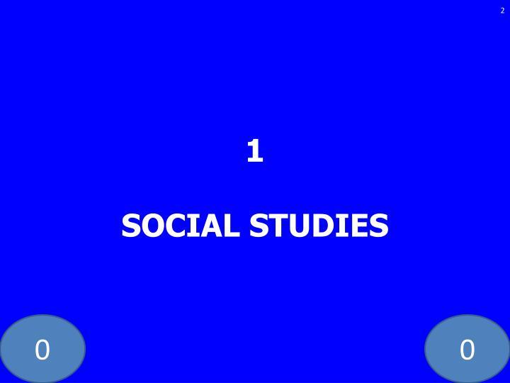 1 social studies