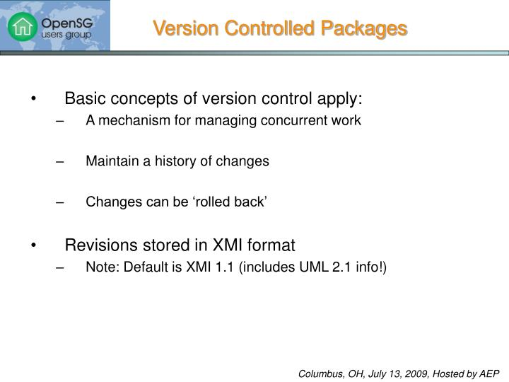Version Controlled Packages
