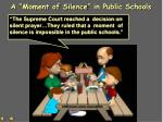 a moment of silence in public schools