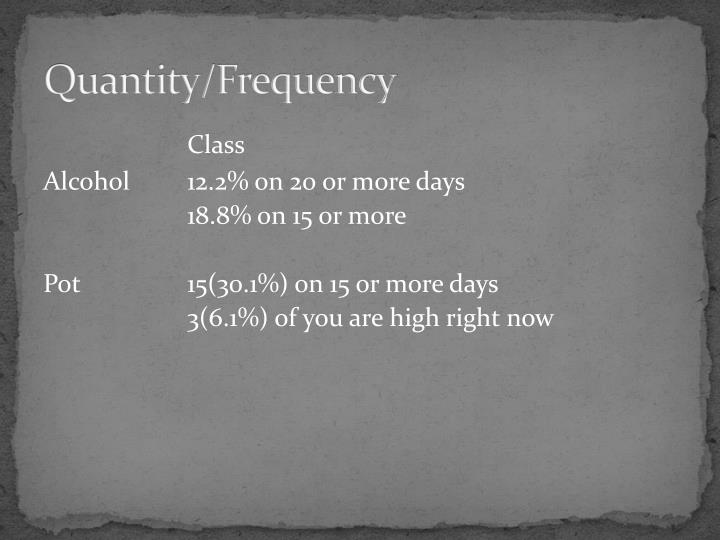 Quantity/Frequency