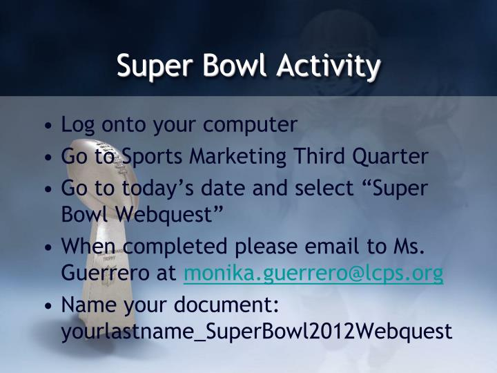Super Bowl Activity