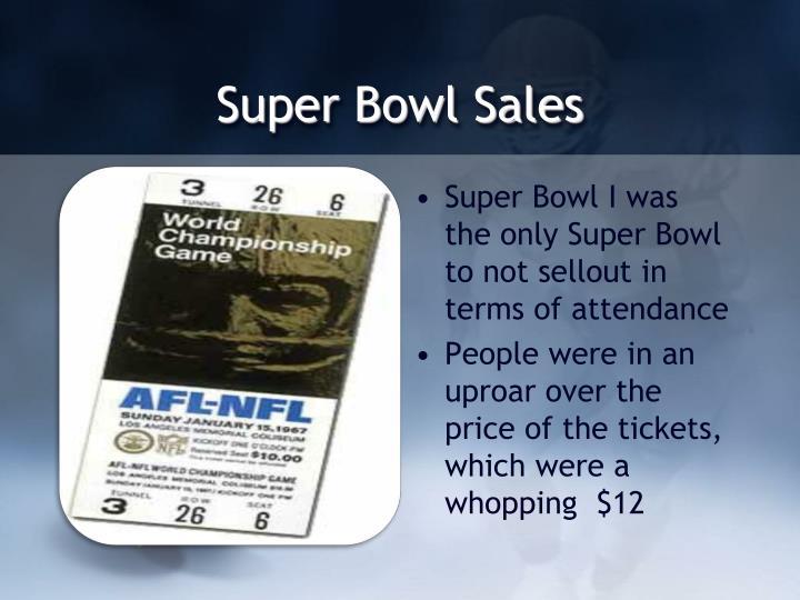 Super Bowl Sales