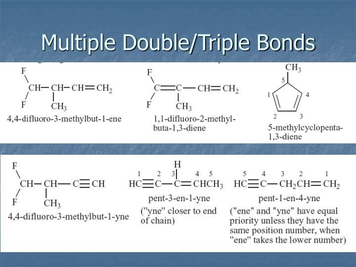 Multiple Double/Triple Bonds