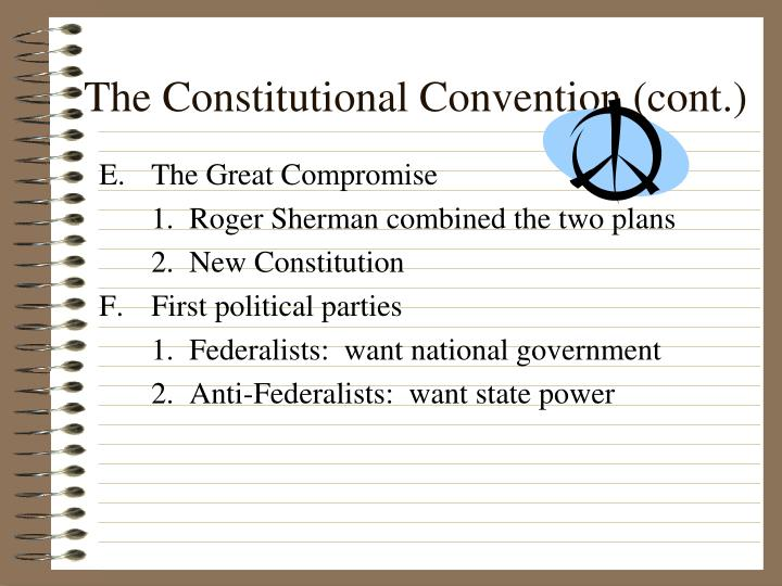 The constitutional convention cont1