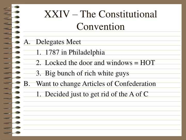 xxiv the constitutional convention n.