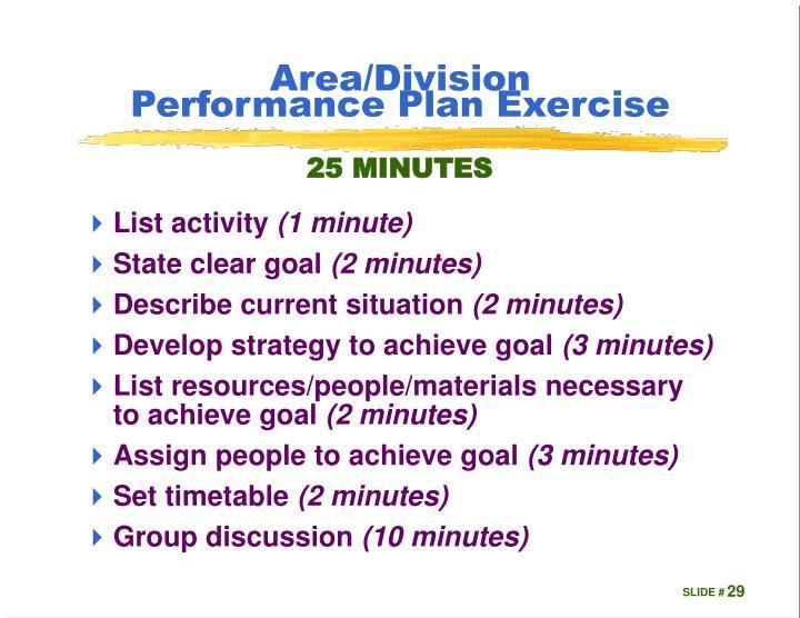 Area/Division