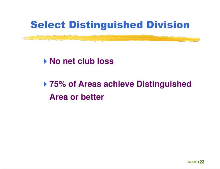 Select Distinguished Division