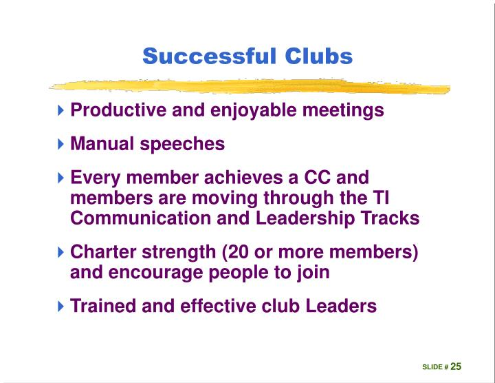 Successful Clubs