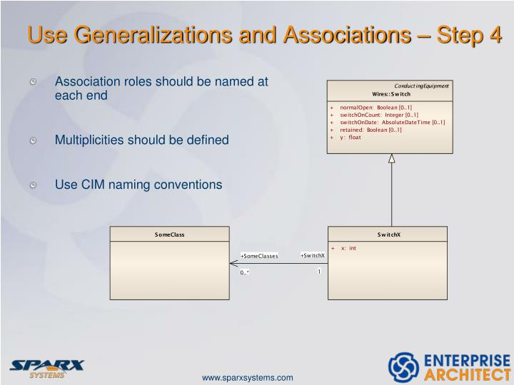 Use Generalizations and Associations – Step 4