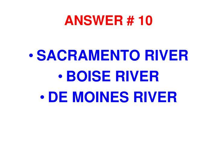 ANSWER # 10