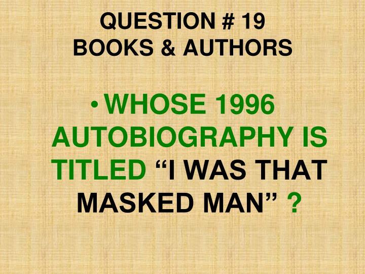 QUESTION # 19