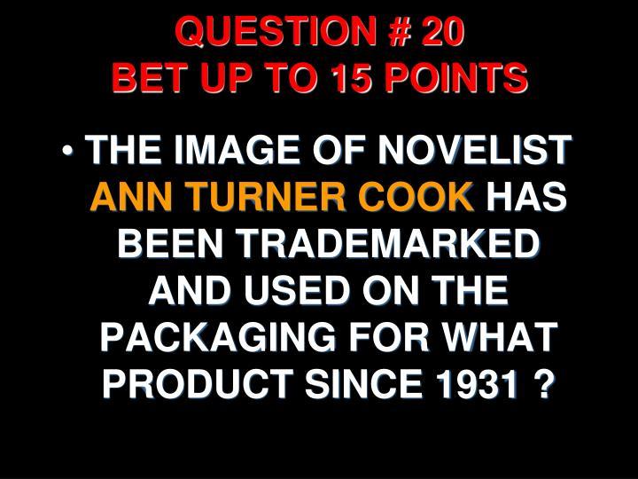 QUESTION # 20