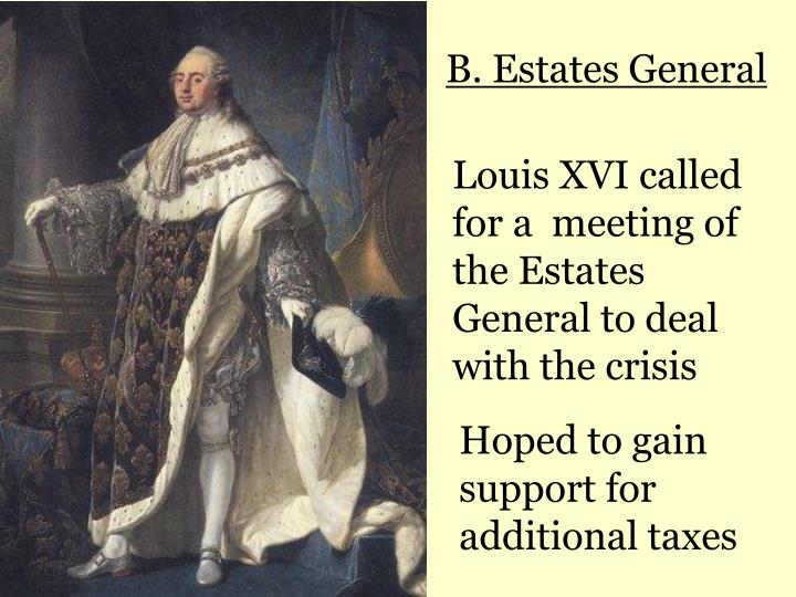 why did louis 16 called an Why did louis xvi call the estates general what issues arose when louis xvi called the estates-general in 1789 in preparation for the estates general.