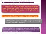 3 nuevos retos a la evangelizacion
