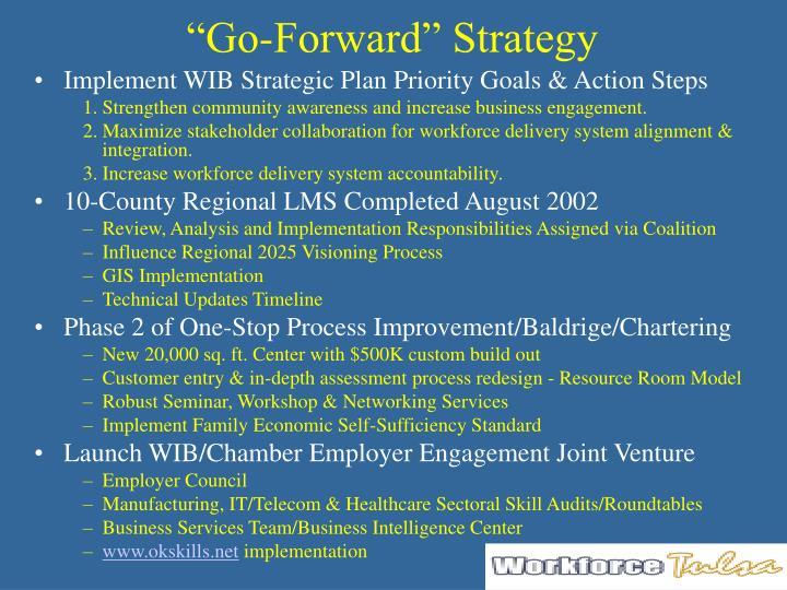 """""""Go-Forward"""" Strategy"""