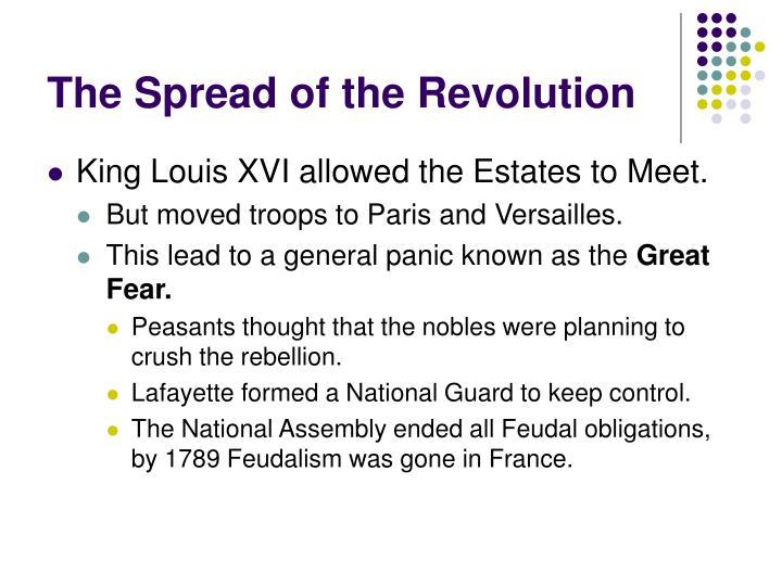 The spread of the revolution