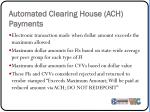 automated clearing house ach payments