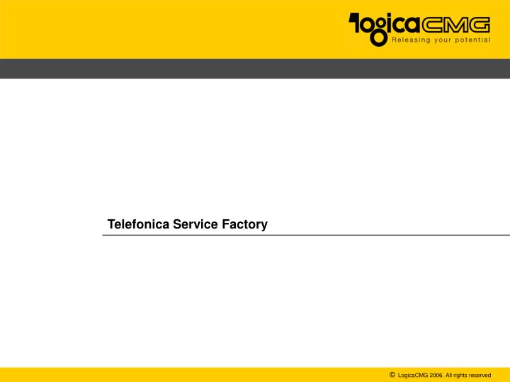 telefonica service factory n.