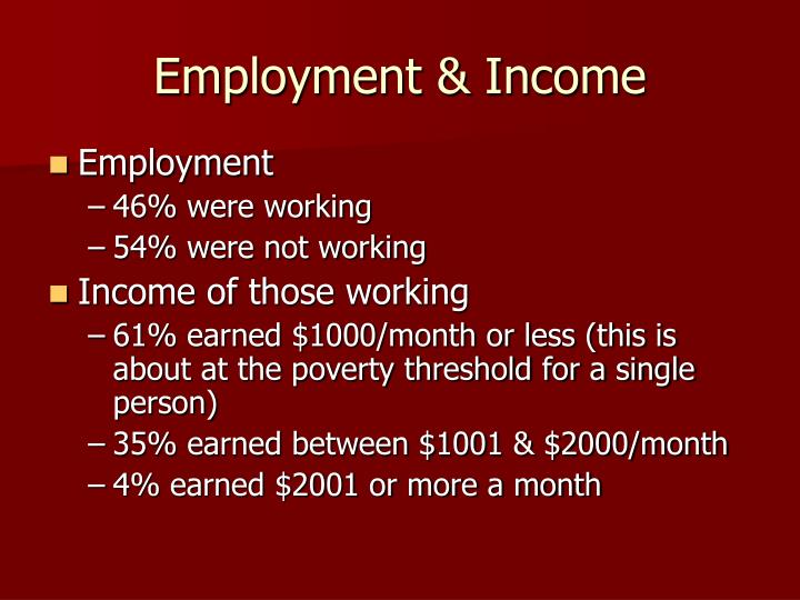 Employment & Income