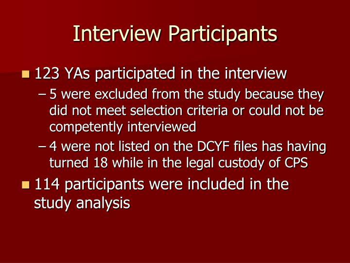 Interview Participants