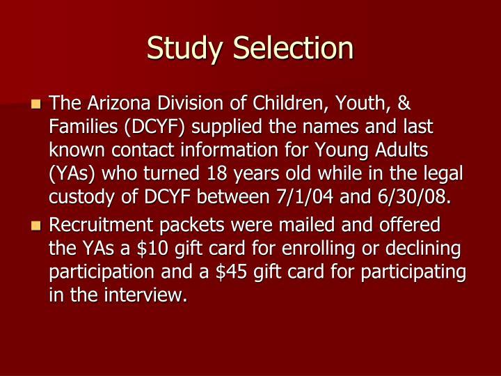 Study selection