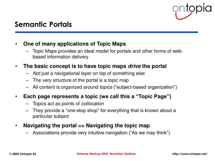 Semantic Portals