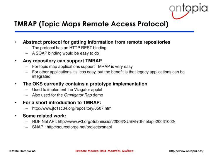 TMRAP (Topic Maps Remote Access Protocol)