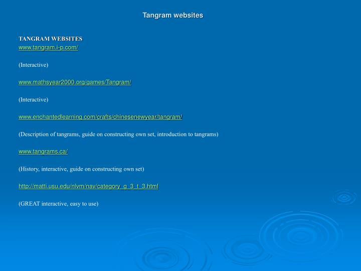 Tangram websites