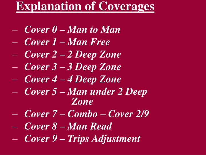 Explanation of Coverages