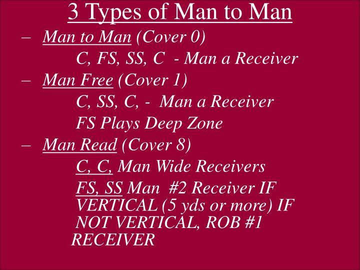 3 Types of Man to Man
