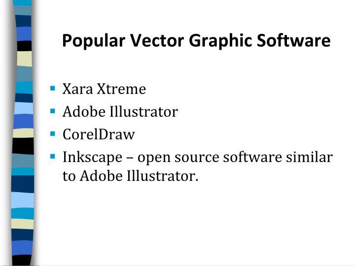 Popular Vector Graphic Software