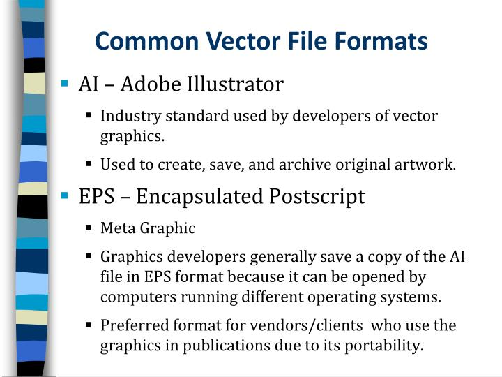 Common Vector File Formats