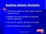 building athletic mentality