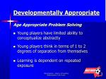 developmentally appropriate age appropriate problem solving