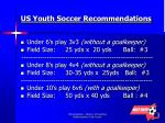 us youth soccer recommendations