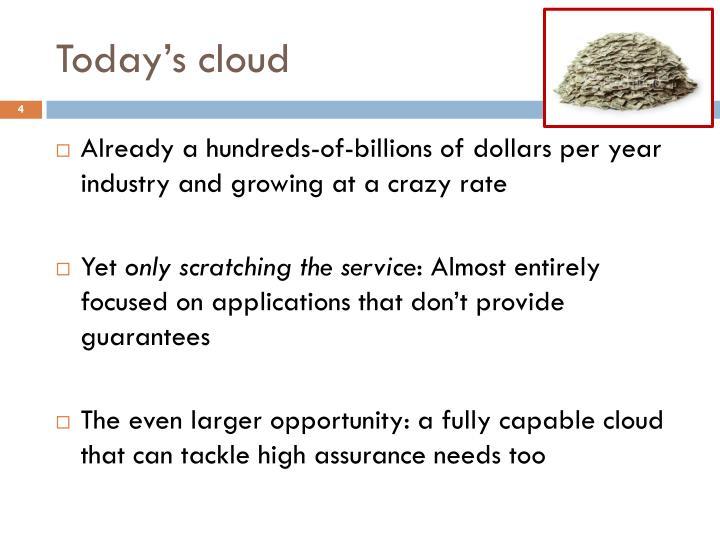 Today's cloud