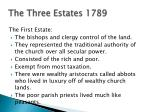 the three estates 1789
