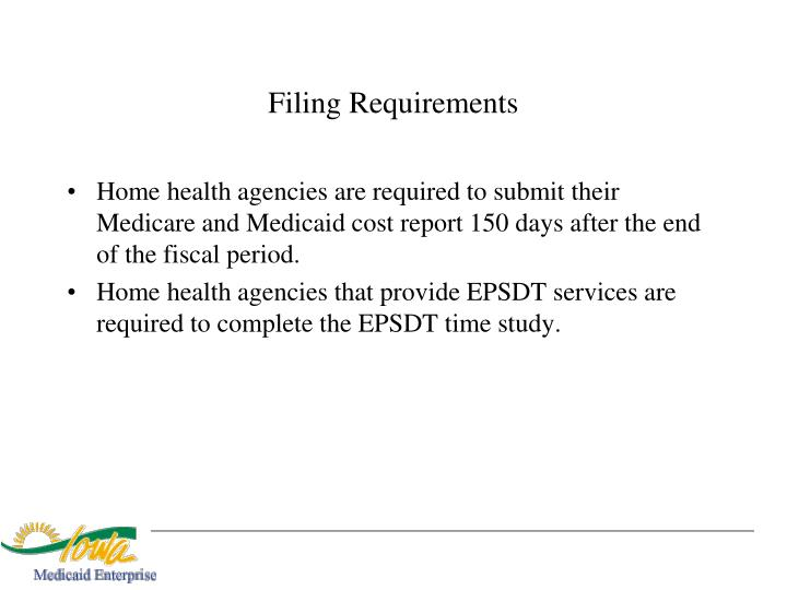 Filing Requirements