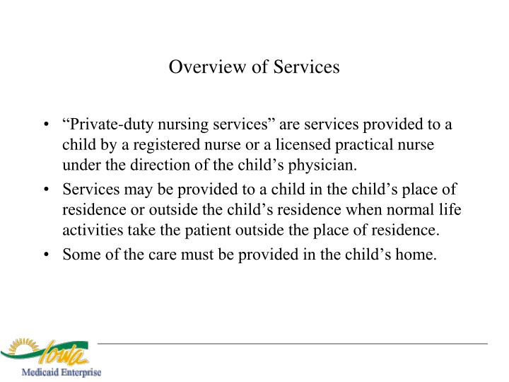 Overview of Services