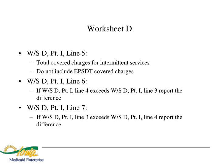Worksheet D