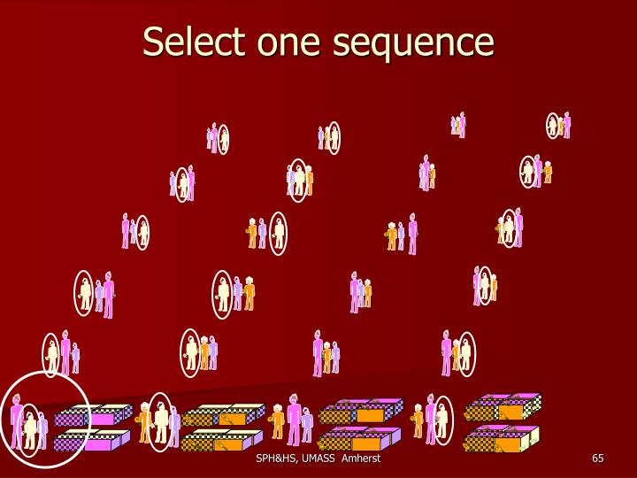 Select one sequence