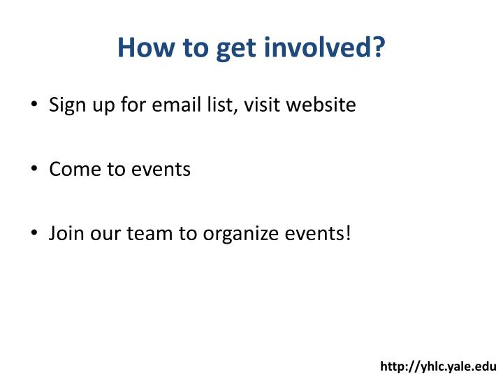 How to get involved?