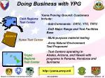 doing business with ypg