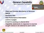 general capability not a requirement just helpful