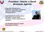 president obama s small business agenda